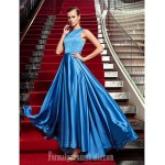 Australia Formal Dress Evening Gowns Military Ball Dress Ocean Blue Plus Sizes Dresses Petite A-line Jewel Long Floor-length Satin Chiffon Formal Dress Australia