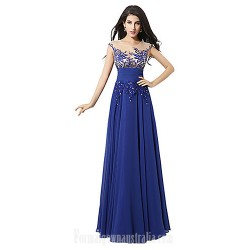 Australia Formal Dress Evening Gowns Royal Blue Plus Sizes Dresses Petite A Line Jewel Long Floor Length