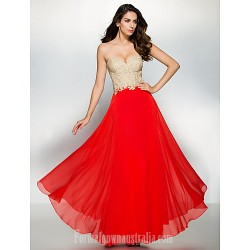 Australia Formal Dress Evening Gowns Multi Color A Line Sweetheart Ankle Length Chiffon Lace