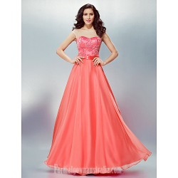 Australia Formal Evening Dress Watermelon Plus Sizes Dresses Petite A-line Scoop Long Floor-length Chiffon