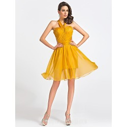 Australia Formal Dresses Cocktail Dress Party Dress Gold Plus Sizes Dresses Petite A-line Princess Straps Sweetheart Short Knee-length Organza