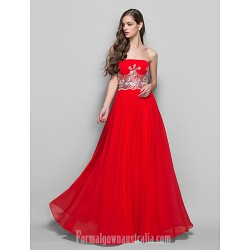 Australia Formal Dress Evening Gowns Prom Gowns Military Ball Dress Ruby Plus Sizes Dresses Petite A Line Princess Strapless Long Floor Length Chiffon