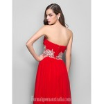 Australia Formal Dress Evening Gowns Prom Gowns Military Ball Dress Ruby Plus Sizes Dresses Petite A-line Princess Strapless Long Floor-length Chiffon Formal Dress Australia