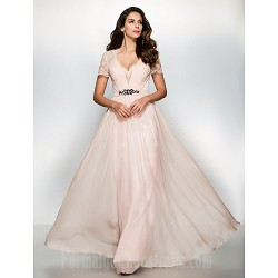 Australia Formal Dress Evening Gowns Pearl Pink A Line Sweetheart Long Floor Length Chiffon Lace