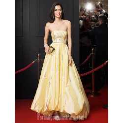 Australia Australia Formal Dress Evening Gowns Daffodil A-line Strapless Asymmetrical Taffeta