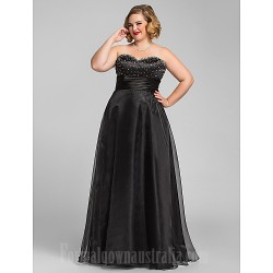 Australia Formal Dress Evening Gowns Prom Gowns Military Ball Dress Black Plus Sizes Dresses Petite A-line Princess Sweetheart Long Floor-length Organza