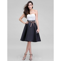 Australia Cocktail Party Dress Multi-color A-line Sweetheart Short Knee-length Satin