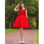 Australia Formal Dresses Cocktail Dress Party Dress Ruby Ball Gown Jewel Short Knee-length Lace Stretch Satin Formal Dress Australia