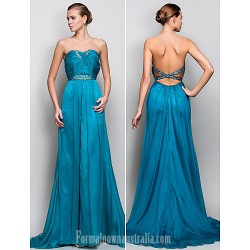 Australia Formal Dress Evening Gowns Military Ball Dress Jade Plus Sizes Dresses Petite A-line Princess Strapless Long Floor-length Crepe