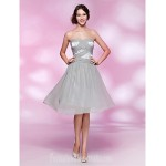 Australia Formal Dresses Cocktail Dress Party Dress Homecoming Dress Silver Plus Sizes Dresses Petite A-line Princess Strapless Sweetheart Short Knee-lengthChiffon Stretch Formal Dress Australia