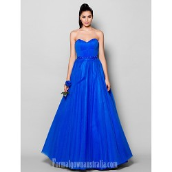 Australia Formal Dress Evening Gowns Royal Blue Plus Sizes Dresses Petite Ball Gown Sweetheart Long Floor Length Tulle Dress