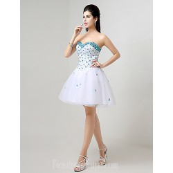 Australia Formal Dresses Cocktail Dress Party Dress White Plus Sizes Dresses Petite A Line Sweetheart Short Knee Length