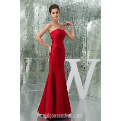 Australia Formal Dress Evening Gowns Ruby Petite A Line Sweetheart Long Floor Length Court Train Satin