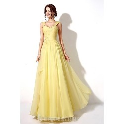 Australia Formal Dress Evening Gowns Watermelon Daffodil A-line Sweetheart Long Floor-length Chiffon