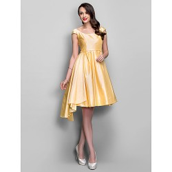Australia Formal Dresses Cocktail Dress Party Dress Holiday Dress Daffodil Plus Sizes Dresses Petite A-line Scoop Short Knee-length Taffeta