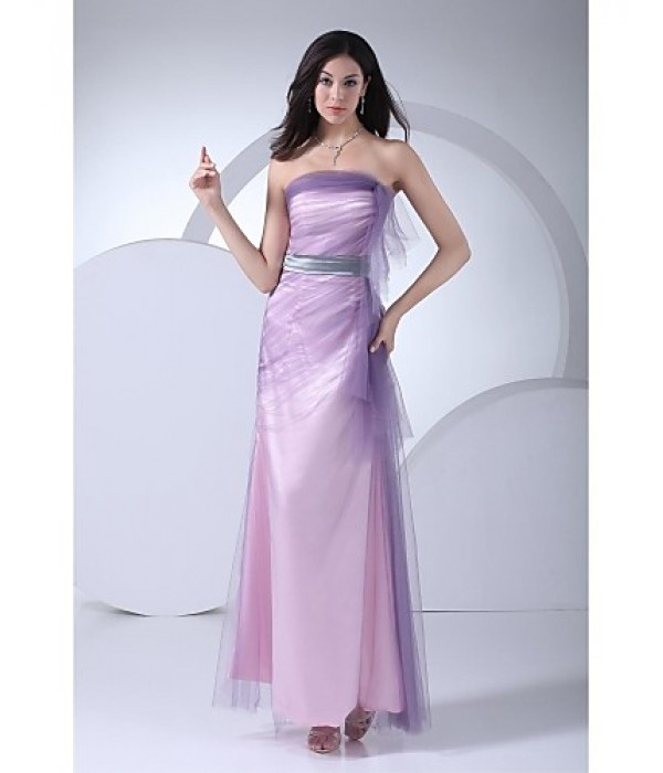 Australia Formal Dress Evening Gowns Multi-color Ball Gown Strapless Long Floor-length Tulle Dress Formal Dress Australia