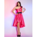 Australia Formal Dresses Cocktail Dress Party Dress Homecoming Holiday Dress Watermelon Plus Sizes Dresses Petite A-line Sexy One Shoulder Asymmetrical Satin Formal Dress Australia