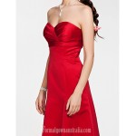 Long Floor-length Satin Bridesmaid Dress Ruby Plus Sizes Dresses Petite A-line Princess Strapless Sweetheart Formal Dress Australia