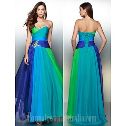 Australia Formal Dress Evening Gowns Multi-color A-line Sweetheart Long Floor-length Chiffon