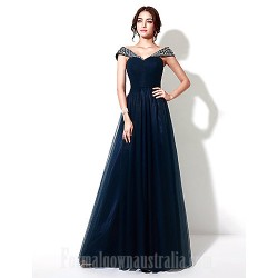 Australia Formal Dress Evening Gowns Dark Navy Plus Sizes Dresses Petite A Line Long Floor Length