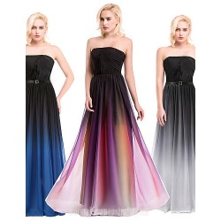 Australia Formal Dresses Cocktail Dress Party Dress Australia Formal Dress Evening Gowns Silver Multi Color Ocean Blue Ball Gown Strapless Long Floor Length