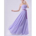 Long Floor-length Chiffon Bridesmaid Dress Royal Blue White Watermelon Beige Purple Ruby A-line Sweetheart Formal Dress Australia