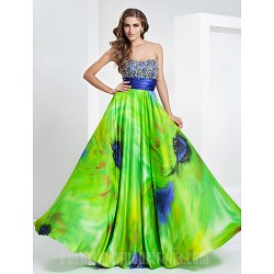 Prom Gowns Military Ball Australia Formal Evening Dress Print Plus Sizes Dresses Petite A-line Princess Strapless Sweetheart Long Floor-lengthStretch