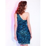 Sheath Column Sexy One Shoulder Short Mini Sequined Australia Cocktail Dress Formal Dress Australia