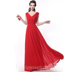 Long Floor-length Bridesmaid Dress Ruby A-line Straps