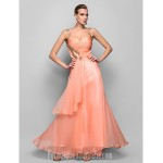 Australia Formal Evening Dress Prom Gowns Military Ball Dress Pearl Pink Plus Sizes Dresses Petite A-line Princess Straps Long Floor-length Chiffon Formal Dress Australia
