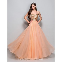 Australia Formal Dress Evening Gowns Prom Gowns Military Ball Dress Orange Plus Sizes Dresses Petite A Line Princess Strapless Sweetheart Long Floor Length Chiffon