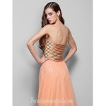 Australia Formal Dress Evening Gowns Prom Gowns Military Ball Dress Orange Plus Sizes Dresses Petite A-line Princess Strapless Sweetheart Long Floor-length Chiffon Formal Dress Australia