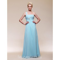 Australia Formal Dress Evening Gowns Military Ball Dress Sky Blue Plus Sizes Dresses Petite A-line Princess Sexy One Shoulder Long Floor-length Chiffon