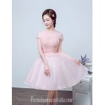 Australia Formal Dresses Cocktail Dress Party Dress Blushing Pink Ball Gown Jewel Long Floor-length Tulle Dress Formal Dress Australia