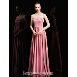 Australia Formal Dress Evening Gowns Black Candy Pink Ball Gown Strapless Long Floor Length Satin