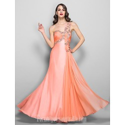 Australia Formal Dress Evening Gowns Prom Gowns Military Ball Dress Ruby Plus Sizes Dresses Petite A Line Sexy One Shoulder Long Floor Length Chiffon Stretch Satin