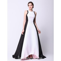 Australia Formal Dress Evening Gowns Ivory Plus Sizes Dresses Petite A-line Princess Jewel Asymmetrical Taffeta