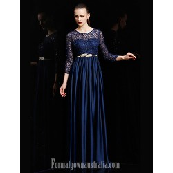 Australia Formal Dress Evening Gowns Burgundy Royal Blue Gold Silver Ball Gown Jewel Long Floor Length Lace Dress Charmeuse