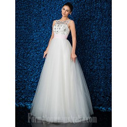 Australia Formal Dress Evening Gowns Ivory Plus Sizes Dresses Petite Ball Gown Jewel Long Floor-length Lace Dress Tulle