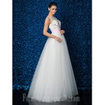 Australia Formal Dress Evening Gowns Ivory Plus Sizes Dresses Petite Ball Gown Jewel Long Floor-length Lace Dress Tulle Formal Dress Australia