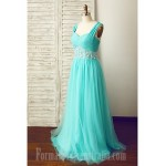 Australia Formal Dress Evening Gowns Jade A-line Straps Long Floor-length Chiffon Tulle Formal Dress Australia