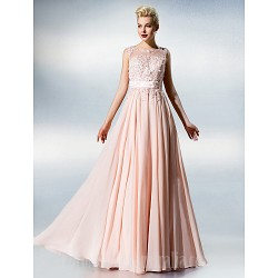 Dress Blushing Pink Plus Sizes Dresses Petite A Line Jewel Long Floor Length Chiffon Lace