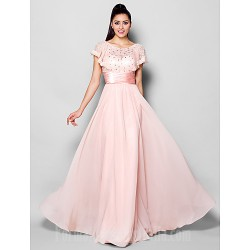 Australia Formal Dress Evening Gowns Blushing Pink Plus Sizes Dresses Petite A-line Jewel Long Floor-length Chiffon