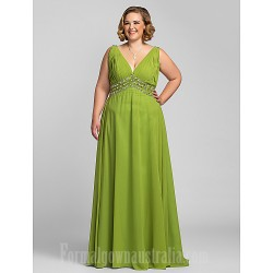 Australia Formal Dress Evening Gowns Prom Gowns Military Ball Dress Clover Plus Sizes Dresses Petite A-line V-neck Long Floor-length Chiffon
