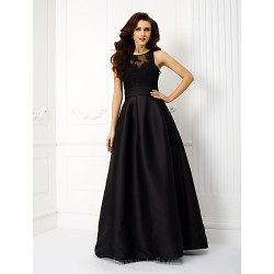 Prom Gowns Australia Formal Dress Evening Gowns Black Plus Sizes Dresses Petite A-line Jewel Long Floor-length Satin