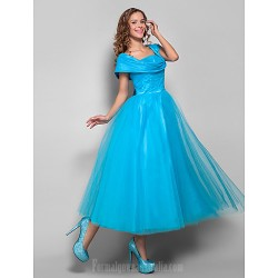 Australia Formal Dresses Cocktail Dress Party Dress Holiday Dress Pool Plus Sizes Dresses Petite Ball Gown Straps Tea-length Tulle