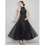 Australia Formal Dress Evening Gowns Military Ball Dress Black Plus Sizes Dresses Petite A-line High Neck Ankle-length Lace Formal Dress Australia