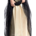 Australia Formal Dress Evening Gowns Black A-line Scoop Long Floor-length Tulle Dress Formal Dress Australia