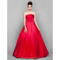 Australia Formal Evening Dress Prom Gowns Military Ball Dress Ruby Plus Sizes Dresses Petite Ball Gown Strapless Long Floor-length Satin