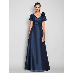 Prom Gowns Australia Formal Dress Evening Gowns Military Ball Dress Dark Navy Plus Sizes Dresses Petite A-line V-neck Long Floor-length Taffeta